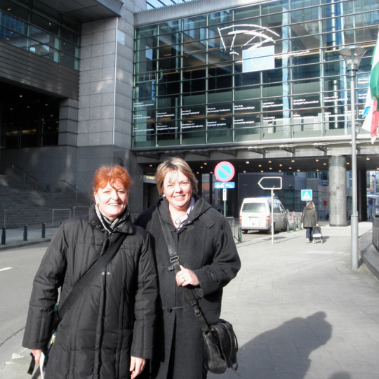picture of project coordinators in brussels